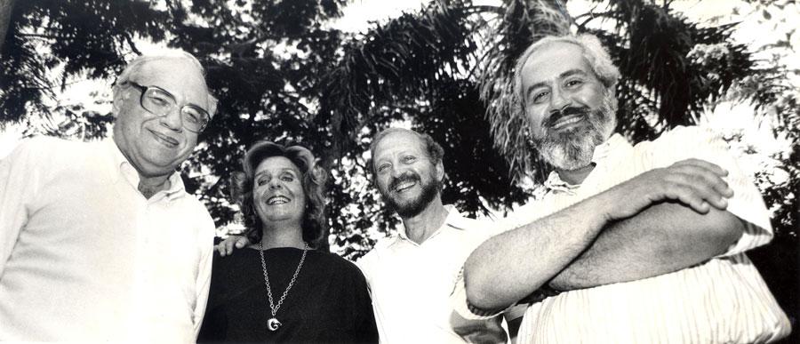 Luis Fernando Verissimo, Lya Luft, Moacyr Scliar e Luiz Antonio de Assis Brasil / Foto: Acervo pessoal