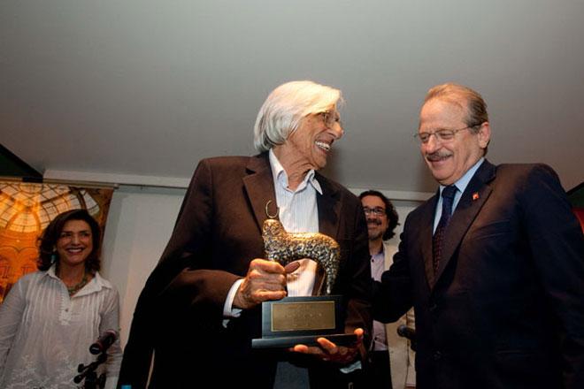 Ferreira Gullar vencedor da primeira edição do Prêmio Moacyr Scliar - Foto: Caco Argemi